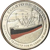 Monnaie, Panama, Premier Passage Dans Le Canal, 1/4 Balboa, 2016, SPL - Panama