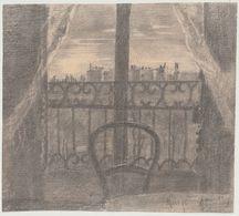 """Dessin Mine De Plomb Paris 16 ème Rue Yvon Villarceau """"vue Sur Les Toits Mars 1895 D'Alfred Grillon"""" - Dessins"""