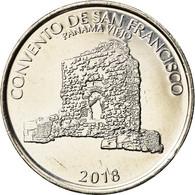 Monnaie, Panama, Couvent De San Francisco, 1/2 Balboa, 2018, SPL, Copper-Nickel - Panamá