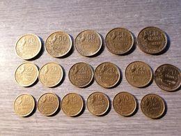 Lot De 17 Monnaies Type Guiraud 50fr 20fr 10fr TOUTES DIFFERENTES Trés Bon état - France