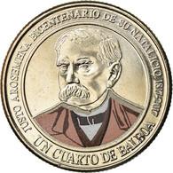 Monnaie, Panama, Justo Arosemena, 1/4 Balboa, 2017, Colorised, SPL - Panamá