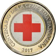 Monnaie, Panama, Anniversaire De La Croix Rouge, Balboa, 2017, SPL, Bi-Metallic - Panamá