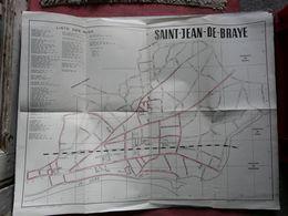 PLAN DE ST JEAN DE BRAYE - LISTE DES RUES - Cartes