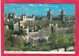 Modern Post Card Of Tower Of London And Tower Bridge,London,England,A72. - Tower Of London