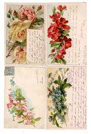 CPA ILLUSTRÉS - FLEURS - 4 Cartes - Fleurs