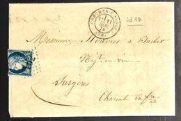 33152 - De CRECHES SUR SAONE Avec Bureau De Passe - Marcophilie (Lettres)