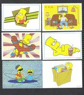 6 CHROMO'S - PANINI - THE SIMPSONS - 1999 (C 471) - Sammelkarten, Lernkarten