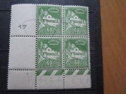 VEND BEAUX TIMBRES D ' ALGERIE N° 48 EN BLOC DE 4 + BDF , XX !!! - Algérie (1924-1962)