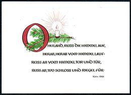 D7204 - Advent E. U. G. Dinkelacker Glückwunschkarte - Verlag Kiefel - Christmas