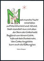 D7205 - TOP Advent Jochen Klepper Glückwunschkarte - Verlag Kiefel - Christmas