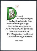 D7207 - TOP Advent Jochen Klepper Glückwunschkarte - Verlag Kiefel - Non Classés