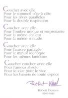 Poésie, Robert Desnos - Poème: Coucher Avec Elle (Extrait De The Night Of Loveless Nights) Carte Non Circulée - Philosophy