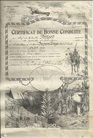 Certificat De Bonne Conduite. 13ème Bataillon De Mitrailleurs En 1926 - Dokumente