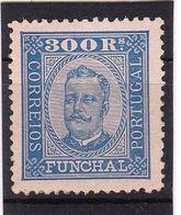 #12071 Portugal, Funchal 1892, Stamp 300 R, MNH,  Michel 12: King Carlos I. - Funchal