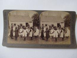 IRLANDE - PHOTO STEREO  ECOLE - CLASSE ENFANTINE - 1903 - BE - Stereoscopio