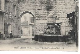 """06 - VENCE - Porte Et Vieille Fontaine  (Petite Animation, Publicité """"Chocolat Menier"""") - Vence"""