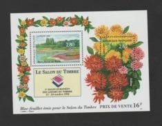 """FRANCE / 1994 / Y&T N° 2909/2910 ** En Bloc Ou BF N° 16 ** (Feuillet """"Salon Du Timbre : Parc Floral"""") X 1 - Mint/Hinged"""