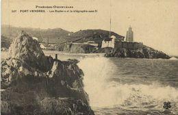 Pyrénées Orientales PORT VENDRES  Le Rocher Et Le Télégraphe Sans Fil  RV - Port Vendres