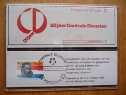 (3) NEDERLAND PTT MAPJE 20 JAAR CENTRALE DIENSTEN HOOGOVENS IJMUIDEN 1984. SEE SCAN - Neufs