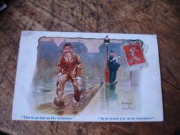 Dudley Burton  Illustrateue Opiliceman Homme Croix Rouge Je M Exerce Vie Tranchee - Illustrators & Photographers