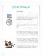 Exemplaire N°1 Feuillet Tirage Limité 500 Exemplaires Frappe Or Fin 23 Carats 2731 Noël Et Nouvel An - Feuillets