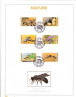 Exemplaire N°1 Feuillet Tirage Limité 500 Exemplaires Frappe Or Fin 23 Carats 2715 à 2719 Abeilles Apiculture Insecte - Panes