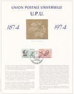 Exemplaire N°001 Feuillet Tirage Limité 500 Exemplaires Frappe Or Fin 23 Carats 1729 1730 Union Postale Universelle UPU - Feuillets