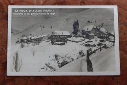 ALLOS (04) - LA FOUX D'ALLOS (1800M) - SES PISTES ET SES GRANDS CHAMPS DE NEIGE - Altri Comuni
