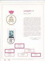 Exemplaire N°001 Feuillet Tirage Limité 500 Exemplaires Frappe Or Fin 23 Carats 1704 Roi Albert 1er - Panes