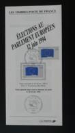 élections Au Parlement Européen Notice FDC Avec Timbre - Multilingual FDC 1994 - Institutions Européennes
