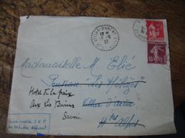 Lot De 2 Villar D Arens Facteur Boitier Lettre - Marcophilie (Lettres)