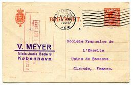 COPENHAGUE Entier Du 15/08/1925 Pour BASSENS  Paypal Not Accept - Postal Stationery