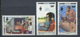261 CAMEROUN 1983 - Yvert 725/27 - Auto Postal Radio Telegraphique Tamtam - Neuf ** (MNH) Sans Trace De Charniere - Kameroen (1960-...)