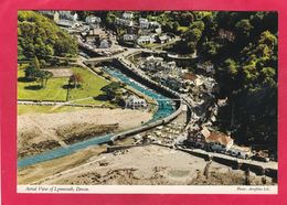 Modern Post Card Of Aerial View Of Lynmouth,Devon,England,A75. - Lynmouth & Lynton