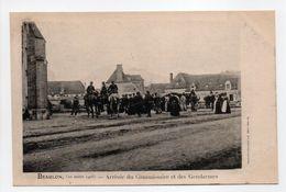 - CPA BEAULON (03) - 10 Mars 1906 - Arrivée Du Commissaire Et Des Gendarmes - - Autres Communes