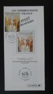Prieuré De Tavant Art Medieval Notice FDC Avec Timbre 37 Indre Et Loire - Multilingual FDC 1997 - Religieux