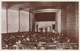Rare Cpa La Salle De Spectacle Du Paquebot Normandie Pendant Une Représentation - Paquebote