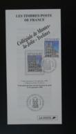 Collégiale De Mantes La Jolie 78 Yvelines Notice FDC Avec Timbre - Multilingual FDC 1998 - FDC