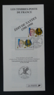 Edit De Nantes Henri IV Protestantisme Notice FDC Avec Timbre - Multilingual FDC 1998 - FDC