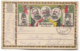 AUSTRIA HUNGARY WW1 - K.u.K. FELDPOST 287  PROPAGANDA Year 1917. TRAVELED TO OSIJEK CROATIA - War 1914-18