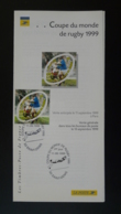 Coupe Du Monde Rugby World Cup 1999 Notice FDC Avec Timbre - Multilingual FDC 1999 - Rugby