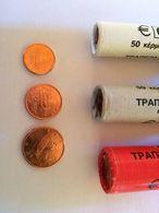 Grece-2002-2003Serie-1-2-5-cent-ct-Euro-Piece-De-Rouleaux-Unc-Qualite-Premium - Grèce