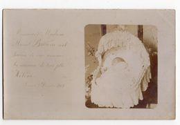 NAISSANCE * FAIRE PART 1902 * HELENE * BEBE * BERCEAU * Carte Photo * Société Lumière, Lyon - Birth
