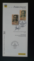 Frederic Ozanam St-Vincent De Paul Notice FDC Signée Beaujard Avec Timbre - Multilingual FDC 1999 - Christianity