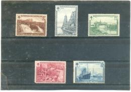 1929 BELGIQUE Y & T N° 293 à 297 ( * ) Les 5 Timbres - Neufs