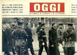 OGGI - ANNO I - N° 12 - 19 AGOSTO 1939 - NEW YORK - IL PRESIDENTE DELL'EIRE EAMON DE VALERA - Oorlog 1939-45