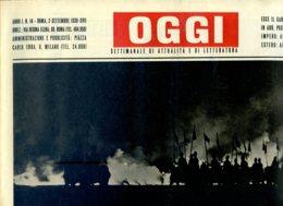 OGGI - ANNO I - N° 14 - 2 SETTEMBRE 1939 - IN UNA GUERRA EUROPEA L'AVIAZIONE PUO GIOCARE UNA PARTITA DECISIVA - Oorlog 1939-45