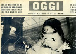 OGGI - ANNO I - N° 19 - 7 OTTOBRE 1939 - NEL CANTIERE DI UN SOTTOMARINO - War 1939-45