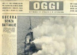 OGGI - ANNO I - N° 23 - 4 NOVEMBRE 1939 - VEDUTA AEREA DI UN BASTIMENTO INCENDIATO NELL'ATLANTICO - Oorlog 1939-45
