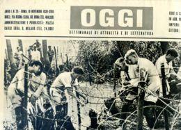 OGGI - ANNO I - N° 25 - 18 NOVEMBRE 1939 - APPRESTAMENTI DI RETICOLATI DIFENSIVI NELLE ZONE ALLAGATE D'OLANDA - Oorlog 1939-45